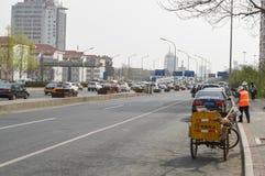 Scène du trafic de la Chine Pékin Image stock