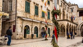 Scène Dubrovnik de rue banque de vidéos
