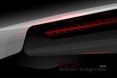 Scène en acier de concept d'éclairage en métal Image stock