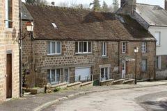 Scène en pierre française de rue de cottages Image libre de droits