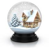 Scène en verre de l'hiver de dôme illustration libre de droits