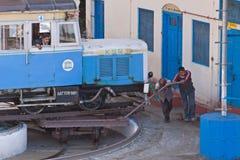 Scène ferroviaire indienne Photos stock