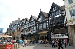 Scène générale de la ville bien connue Chester Chester, R-U, le 3 juillet 2015 photographie stock libre de droits