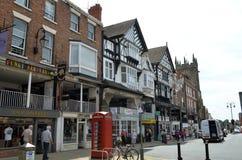 Scène générale de la ville bien connue Chester Chester, R-U, le 3 juillet 2015 images stock