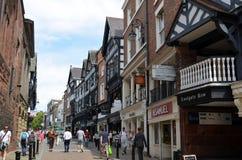 Scène générale de la ville bien connue Chester Chester, R-U, le 3 juillet 2015 image stock