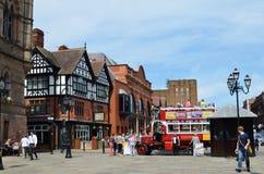 Scène générale de la ville bien connue Chester Chester, R-U, le 3 juillet 2015 photo libre de droits