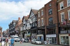 Scène générale de la ville bien connue Chester Chester, R-U, le 3 juillet 2015 image libre de droits