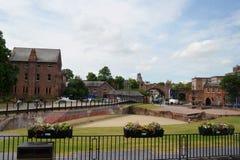 Scène générale de la ville bien connue Chester Chester, R-U, le 3 juillet 2015 photographie stock