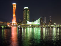 Scène gauche de nuit de Kobe photo stock