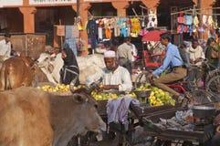 Scène indienne de rue Photos stock