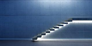 Scène intérieure avec l'escalier