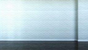 Scène intérieure avec le mur des briques illustration stock
