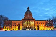 Scène législative de nuit de construction Photographie stock libre de droits
