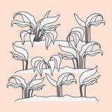 Scène marine d'écosystème d'usines illustration stock
