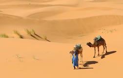 Scène marocaine de désert photographie stock libre de droits