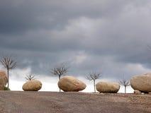 Scène met stenen Stock Foto's