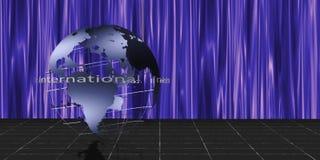 Scène mondiale illustration stock