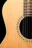 Scène noire de guitare Image libre de droits