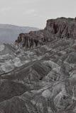 Scène noire et blanche de Death Valley Photographie stock