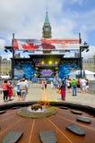 Scène op het Parlement Heuvel Royalty-vrije Stock Afbeelding