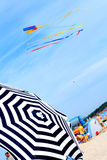 Scène op het strand royalty-vrije stock fotografie