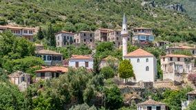 Scène panoramique de village historique de Doganbey dans la ville d'Aydin Photographie stock