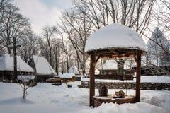 Scène pastorale d'hiver Images libres de droits