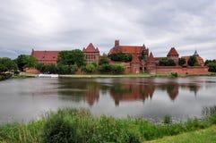 Scène pittoresque de château de Malbork dans la région de Pomerania, Pologne Image libre de droits