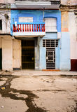 Scène, portes et fenêtres de rue de La Havane Photos stock