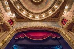 Scène principale à l'intérieur de Rio de Janeiro Municipal Theatre - Rio de Janeiro, Brésil image stock