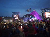 Scène principale au festival de musique britannique Photos libres de droits