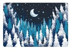 Scène religieuse d'hiver - scène traditionnelle - illustration pour des enfants illustration libre de droits