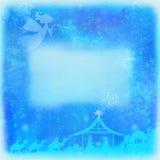 Scène religieuse de nativité de Noël illustration stock