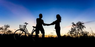 Scène romantique de l'amour Images libres de droits
