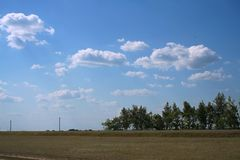 Scène rurale d'été Images libres de droits