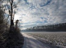 Scène rurale de l'hiver Image libre de droits