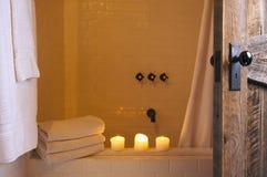 Scène rustique de salle de bains photographie stock