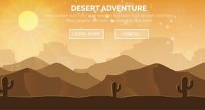 Scène sèche sauvage chaude ensoleillée de désert Photos libres de droits