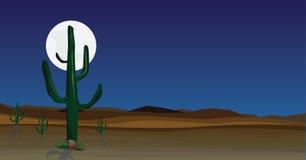 Scène sauvage de désert illustration de vecteur
