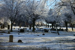 Scène silencieuse de l'hiver 1897 Image stock