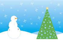 Scène stylisée de l'hiver Image stock