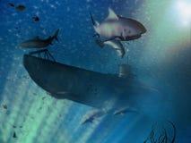 Scène submersible Photos stock