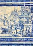 Scène in tegel royalty-vrije stock afbeelding