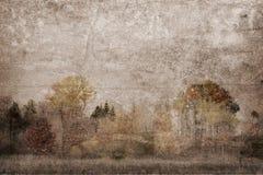 Scène texturisée abstraite de parc boisé pendant l'automne photo stock