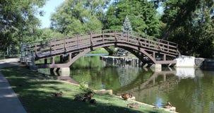 Scène tranquille par la rivière d'Avon, Stratford, Canada 4K clips vidéos