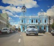 Scène typique dans la ville de Cienfuegos image libre de droits