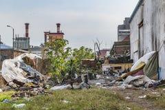 Scène urbaine de déchets Photographie stock libre de droits