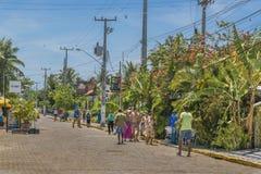 Scène urbaine de jour à Porto Galinhas, Brésil Photos stock