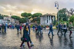 Scène urbaine de rue d'hiver, Rome, Italie Image libre de droits