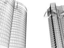 Scène urbaine de ville - noire et blanche Photos stock